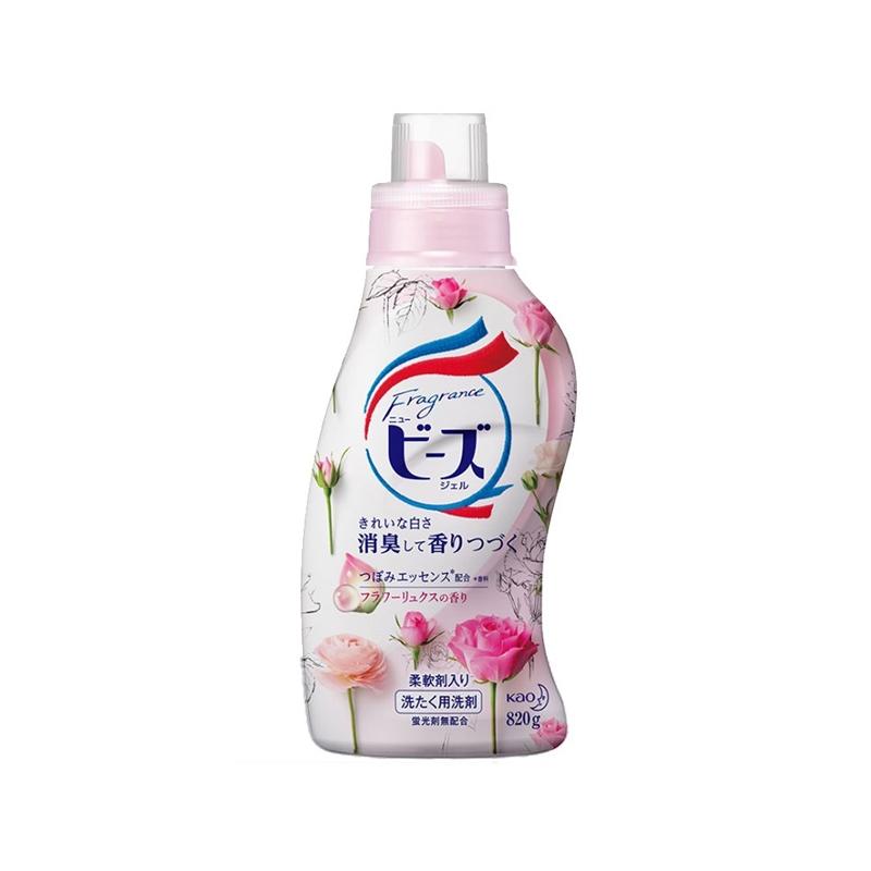 一般贸易货源【中文标】代购日本KAO/花王洗衣液含天然柔顺剂玫瑰柠檬香820G