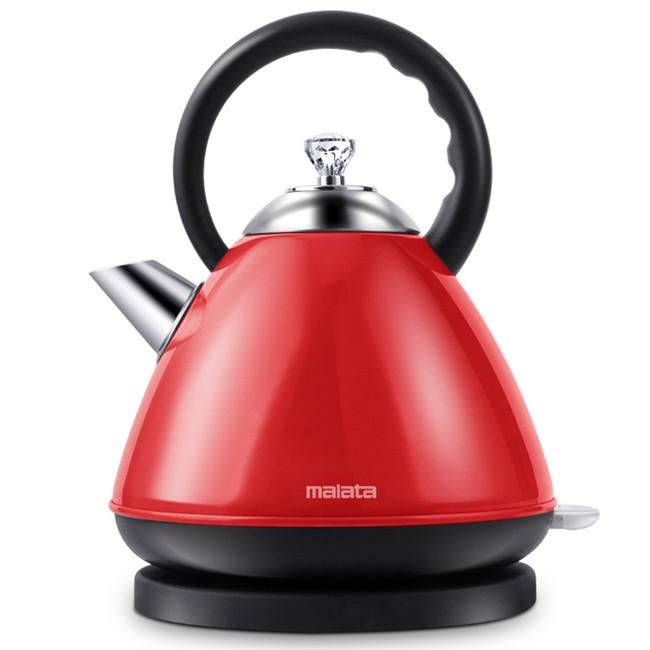 一般贸易货源 代购万利达食品级304不锈钢2升大容量欧式电热水壶WLD-DSH2001红色款