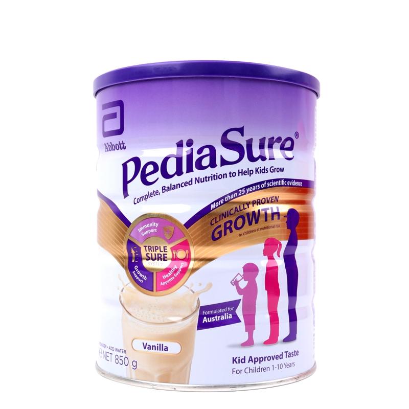 保税货源 代购澳洲雅培PediaSure小安素奶粉850g(香草口味)