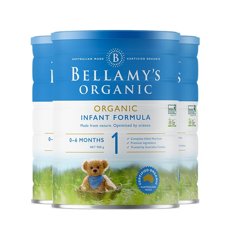保税货源 代购澳大利亚贝拉米有机奶粉1段900g(全新包装)