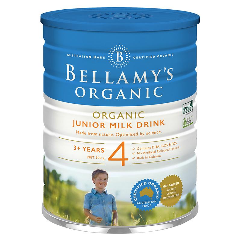 保税货源 代购澳洲贝拉米Bellamy's 有机儿童配方奶粉4段900g