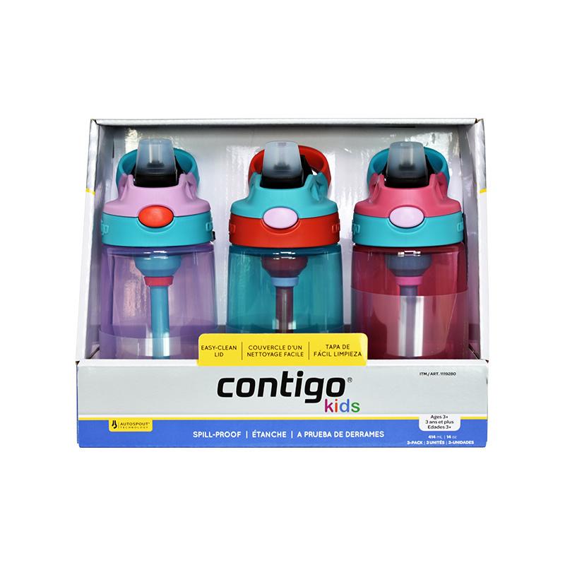 保税货源 代购美国康迪克Contigo儿童带吸管防漏运动水杯(女款)
