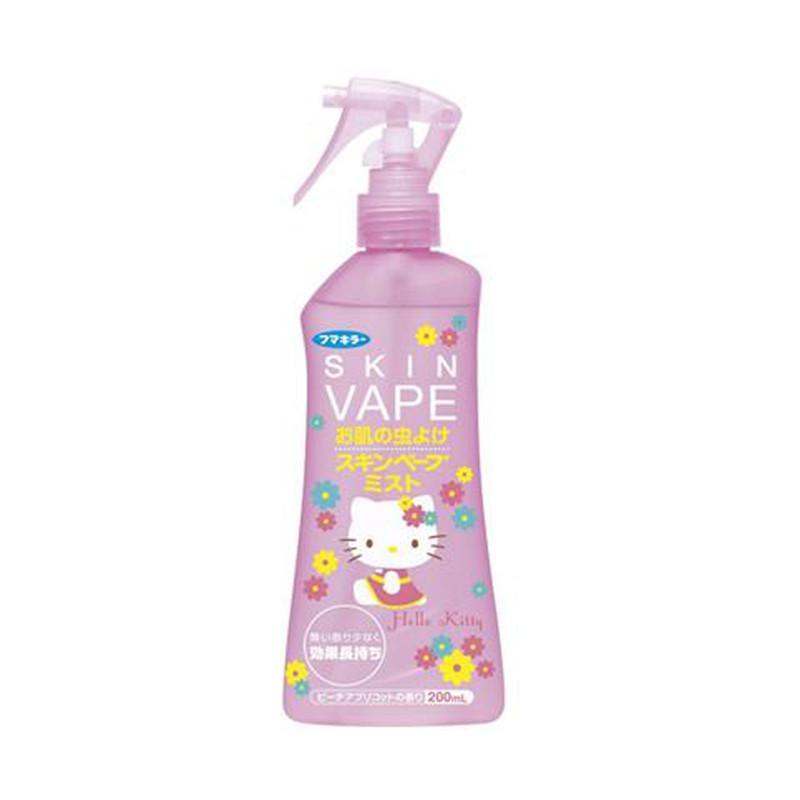 一般贸易货源 代购日本SkinVapeHellokitty防蚊驱蚊液粉色200ml