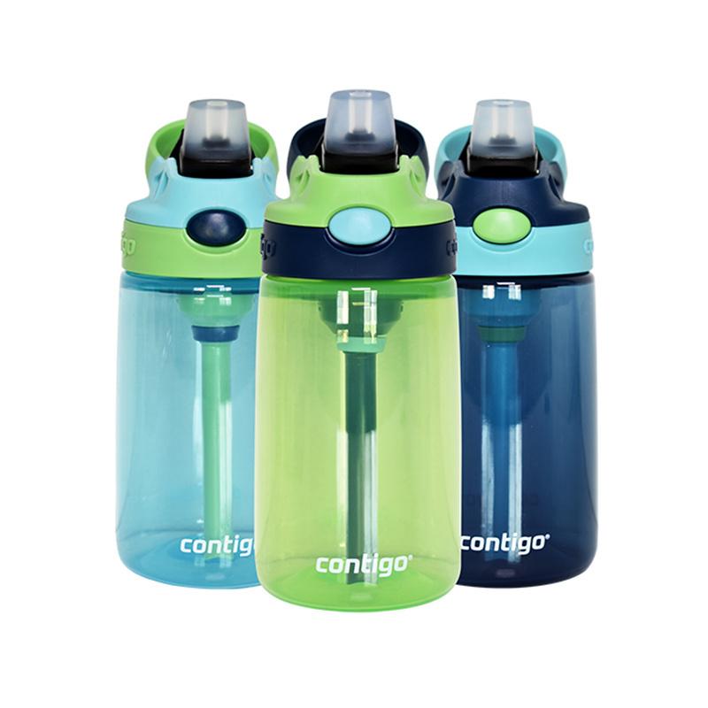 保税货源 代购美国康迪克Contigo儿童带吸管防漏运动水杯(男款)