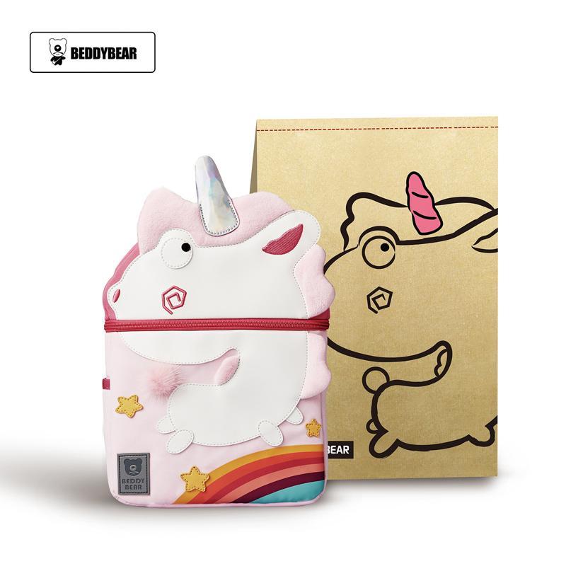一般贸易货源【中文标】代购韩国杯具熊儿童幼儿园书包粉色独角兽双肩包2-10岁