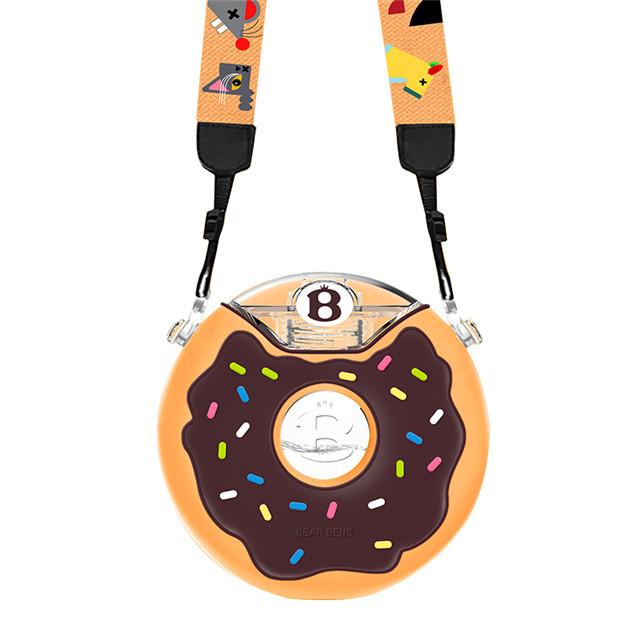 一般贸易货源 代购日本熊本士儿童Tritan甜甜圈防摔宝宝水杯水壶380ml 棕色