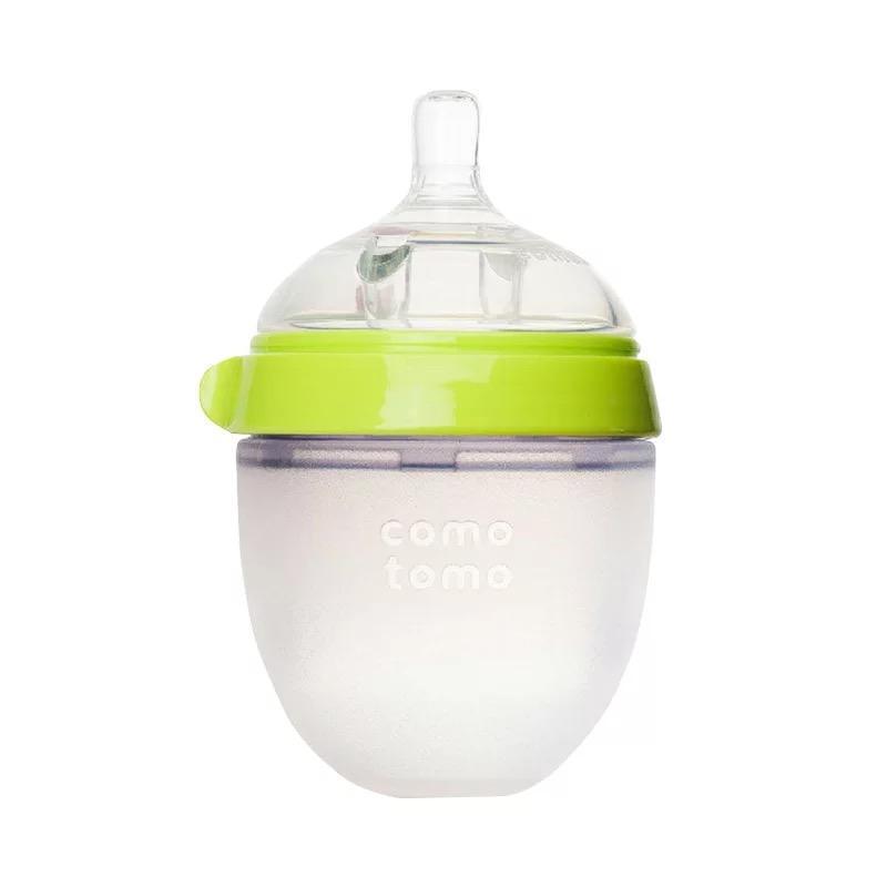一般贸易货源【中文标】代购美国可么多么Comotomo奶瓶绿色150ml