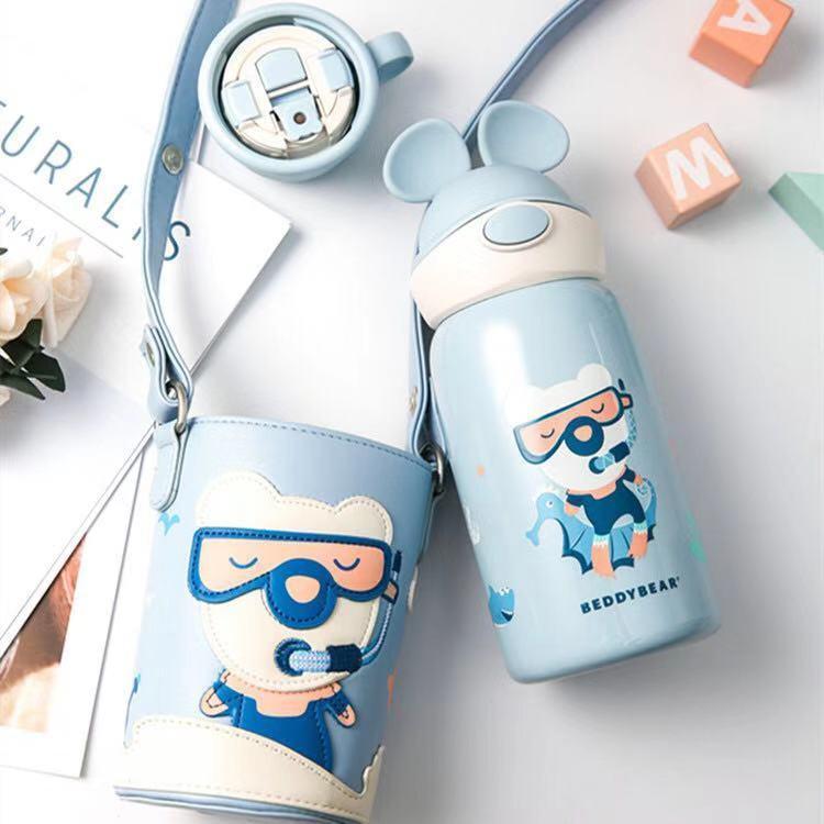 一般贸易货源 代购杯具熊beddybear儿童保温杯水杯定制款600ML熊游游