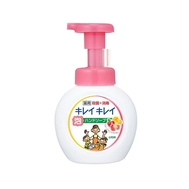 一般贸易货源【中文标】代购日本狮王LION儿童抑菌泡沫洗手液植物弱酸性250ml红色果香型