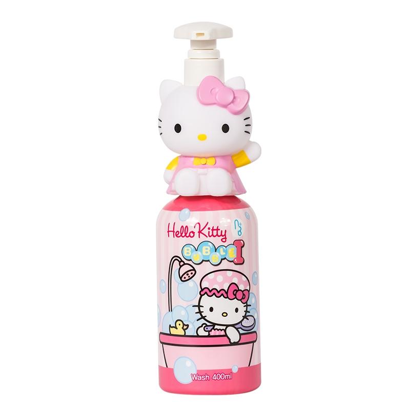 一般贸易货源【中文标】代购ATEX凯蒂猫HELLOKITTY韩国进口婴幼儿泡泡沐浴露400ml