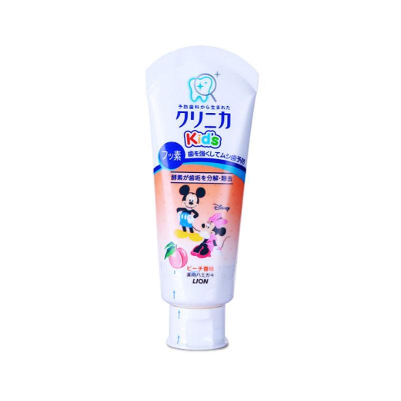 一般贸易货源【中文标】代购日本狮王米奇米妮儿童牙膏60g水蜜桃味