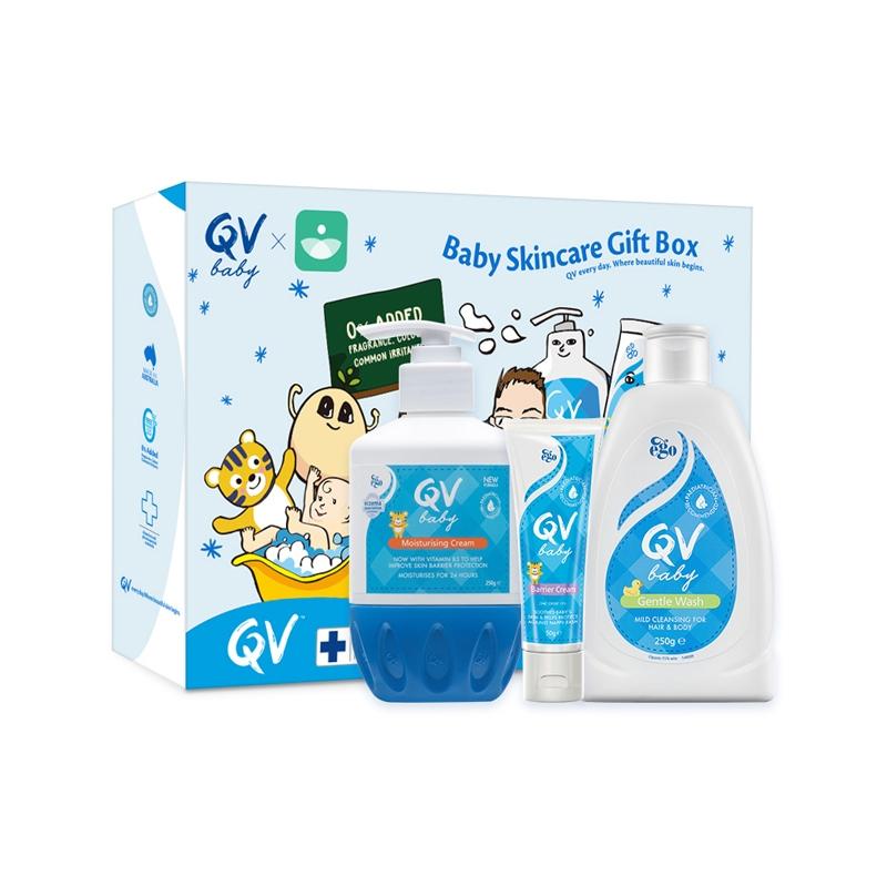 保税货源  代购澳洲意高Ego QV婴幼儿洗护三件套装新生儿礼盒