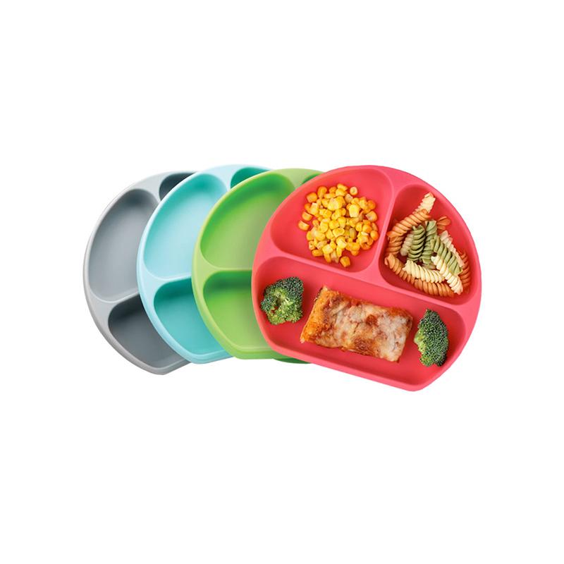 一般贸易货源 代购Bumkins吸盘硅胶碗樱桃红-RED/宝贝蓝-BLU/龙猫灰-GRY/独角兽-紫色/粉色-PNK 5种颜色随机发