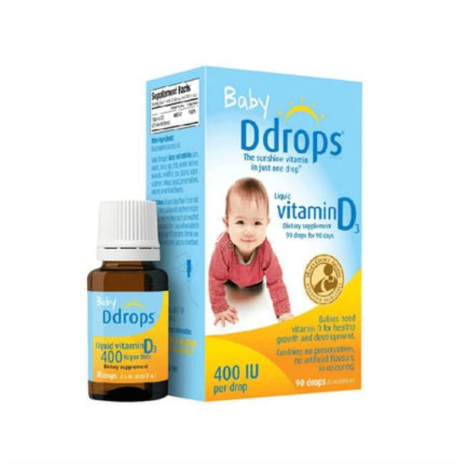 保税货源 代购美国Ddrops婴幼儿补钙维生素D3滴剂 2.5ml
