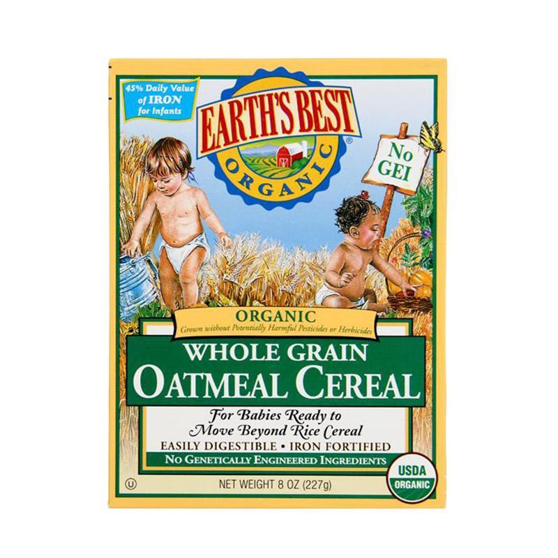 保税货源 代购美国Earth's Best 2段燕麦米粉 227g