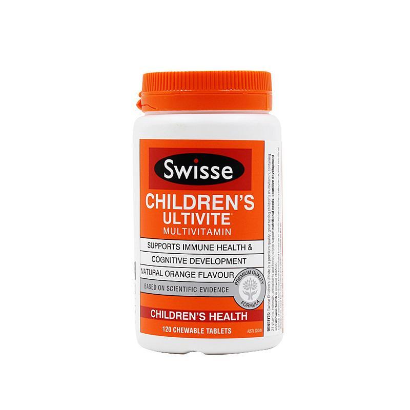 保税货源 代购澳洲swisse儿童复合维生素矿物质咀嚼片 120片