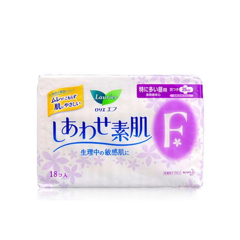 一般贸易货源【中文标】代购日本花王卫生巾乐而雅F系列日用25cm*18片