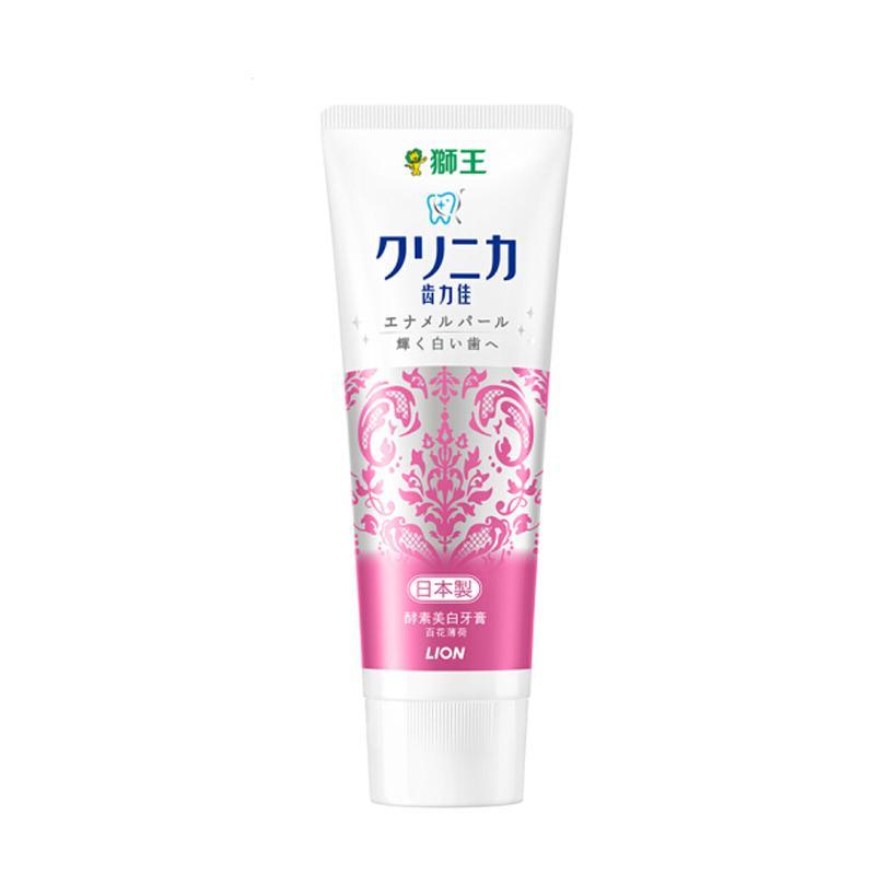 一般贸易货源【中文标】代购日本狮王Lion 酵素珍珠美白牙膏 百花薄荷 130g