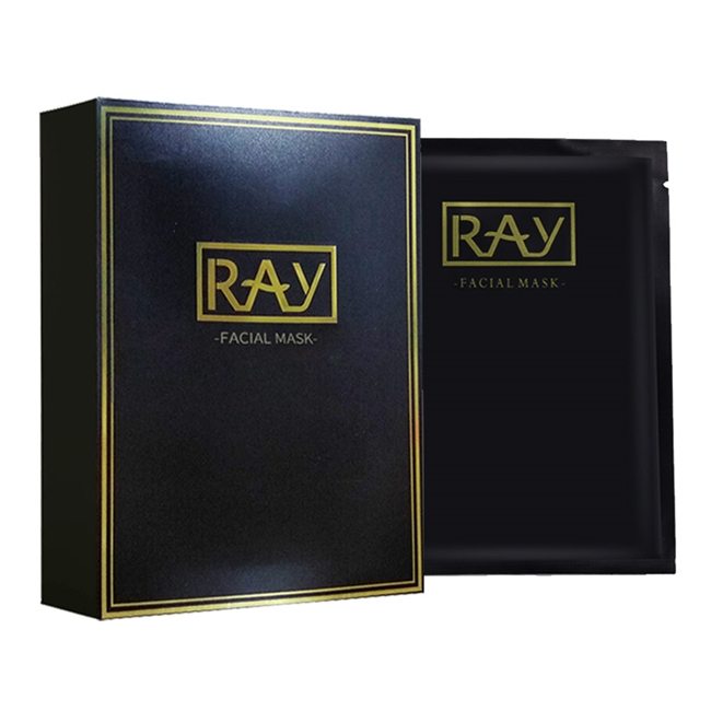 一般贸易货源【一般贸易中文标】代购泰国RAY 芮一竹炭面膜(黑金版)10片